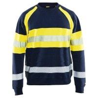 """Vorschau: Multinorm-Sweatshirt """"3459"""" - BLAKLÄDER® marine/gelb"""
