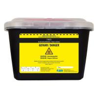 Vorschau: Kanülen-Abwurfbehälter schwarz - NITRAS Medical® | 5 Liter