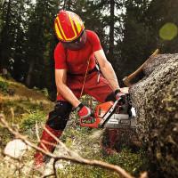 """Vorschau: Forst- und Schnittschutzhose """"GLADIATOR-EXTREM"""" Klasse 1 - Pfanner® rot"""