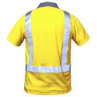 "Vorschau: Warnschutz Polo-Shirt ""DEN HAAG"" - elysee® Gelb/Grau 3XL"