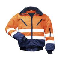 "Vorschau: Warnschutz-Pilotenjacke 4in1 ""ERIK"" - NORWAY® orange/marine"