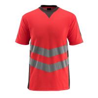Vorschau: Warn-T-shirt Sandwell MASCOT®SafeSupreme rot/anthrazit