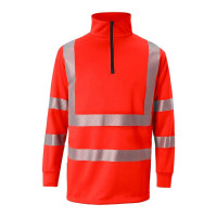 """Vorschau: Warnschutz Zip-Sweatshirt """"REFLECTIQ"""" - Kübler®"""
