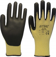 "Vorschau: PU-Schnittschutzhandschuhe ""6740"" NITRAS TAEKI5® gelb"