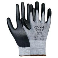 "Vorschau: PU Schnittschutz-Handschuhe ""NITRAS CUT 3"" grau"