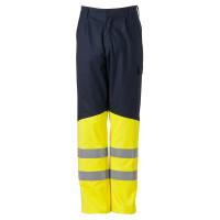 """Vorschau: Bundhose """"80012"""" 280g/m² marine/fluor gelb - HAVEP® - 46"""