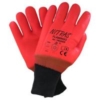 """Vorschau: PVC-Kälteschutz-Handschuhe vollbeschichtet """"FLAMINGO"""" - NITRAS®"""