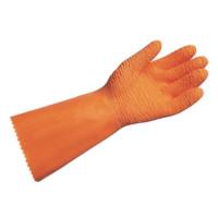 "Vorschau: Naturlatex Handschuhe ""HARPON"" 37cm, orange - MAPA®"