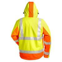"""Vorschau: Warnschutz Softshelljacke """"JIM"""" - elysee® gelb/orange"""