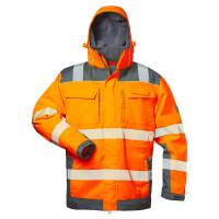 "Vorschau: Warnschutz-Winterjacke 2in1 ""NIKLAS"" elysee® Orange/Grau 3XL"