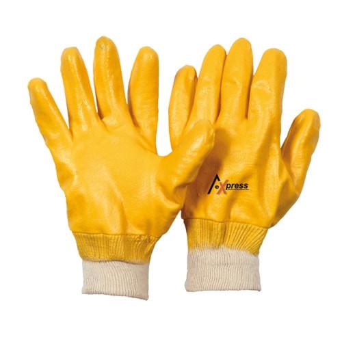 2 Paar Nitrilhandschuhe Arbeitshandschuhe Nitril gelb Gr.10
