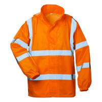 """Vorschau: Warnschutz-Regenjacke """"HAUKE"""" mit Kapuze - safestyle® orange"""