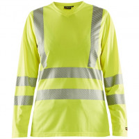 """Vorschau: Damen Warnschutz Langarmshirt mit UV-Schutz """"3485"""" - BLAKLÄDER®"""