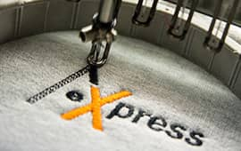 Direkteinstickung von Arbeitsschutz-Express