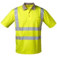 """Vorschau: Warnschutz UV-Schutz Poloshirt """"TITUS"""" - safestyle® Gelb"""