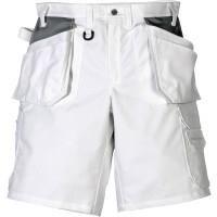 """Vorschau: Handwerkershorts """"257 BM"""" 100% Baumwolle - FRISTADS® weiß/grau"""