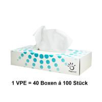 Vorschau: Kosmetiktücher 2-lagig NITRAS Medical®  40 Boxen á 100 Stück = 4000 Tücher