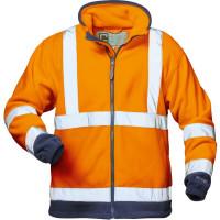 "Vorschau: Warnschutz Fleece-Jacke ""BENEDIKT"" - elysee® orange/marine"