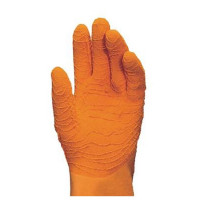 "Vorschau: Naturlatex Handschuhe ""HARPON"" 32cm, orange - MAPA®"