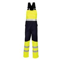 """Vorschau: Warnschutz Latzhose """"20007"""" marine/fluor gelb - HAVEP® - 46"""