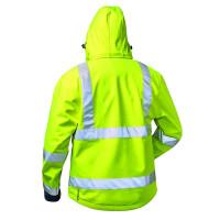 """Vorschau: Warnschutz-Softshell-Jacke """"LIAM"""" mit Kapuze - elysee® gelb"""