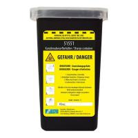 Vorschau: Kanülen-Abwurfbehälter schwarz - NITRAS Medical® | 1 Liter
