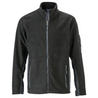 Vorschau: Workwear Fleecejacke - James & Nicholson® black/carbon