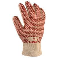 Vorschau: Baumwoll-Strick-Hitzeschutzhandschuhe Nitril-Noppen teXXor
