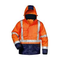 """Vorschau: Warnschutz-Jacke """"UDO"""" - safestyle® orange/marine"""