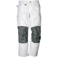 """Vorschau: Bundhose """"268 BM"""" 100% Baumwolle - FRISTADS® weiß/grau"""