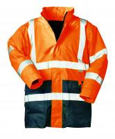 """Vorschau: Warnschutz-Parka 2-in-1 """"ALEXANDER"""" safestyle® orange/marine"""