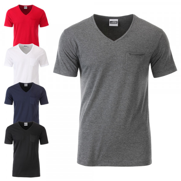 32f9fc6229343e Herren T-Shirt Pocket - James   Nicholson®