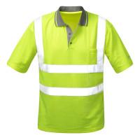 """Vorschau: Warnschutz Polo-Shirt """"DIEGO"""" mit Reflexstreifen - gelb"""