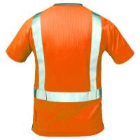 """Vorschau: Warnschutz T-Shirt """"ROTTERDAM"""" Kl. 2 elysee® Orange/Grau 3XL"""