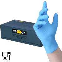 Vorschau: Nitril-Einweghandschuhe blau – BASIC   100er Box