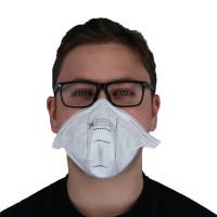 Vorschau: Feinstaub-Faltmaske FFP2 ohne Ventil - BASIC   Made in Germany
