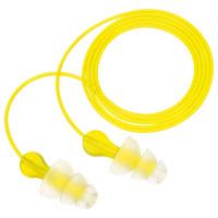 "Vorschau: 3M® Gehörschutzstöpsel ""PN01006"" TRI-FLANGE mit Stoffkordel SNR= 29 dB"
