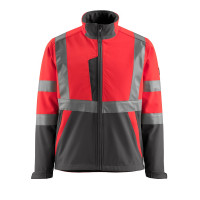Vorschau: Warn-Softshelljacke Kiama MASCOT® Safe Light rot/anthrazit
