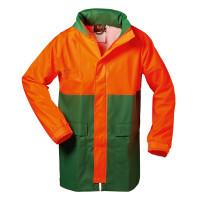 Vorschau: Forstschutz PU-Stretch-Regenjacke - NORWAY® grün/orange