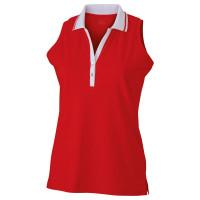 Vorschau: Damen Elastic Polo Ärmellos - James & Nicholson® black