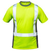 "Vorschau: Warnschutz T-Shirt ""AMSTERDAM"" Kl. 2 - elysee® Gelb/Grau 3XL"
