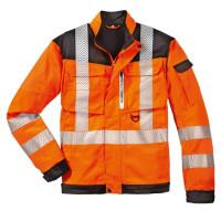 "Vorschau: Warnschutz Bundjacke ""Kentucky"" - 4PROTECT® Orange/Grau"