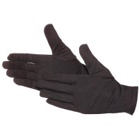 Vorschau: Baumwoll-Trikot-Handschuhe m. Schichteln CE Cat.I - schwarz