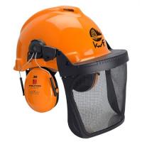 """Vorschau: Forstschutz-Helmkombination """"G22D & H510P3E"""" orange - 3M®"""