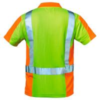 """Vorschau: Warnschutz Polo-Shirt """"ZWOLLE"""" - elysee® Gelb/Orange 3XL"""