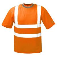 """Vorschau: Warnschutz T-Shirt """"BRIAN"""" mit Reflexstreifen - orange"""