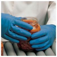 "Vorschau: Naturlatex Handschuhe ""SUPERFOOD"" 31cm, blau - MAPA®"